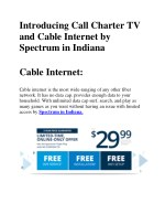 Introducing Call Charter TV and Cable Internet by Spectrum in Indiana