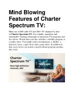 Mind Blowing Features of Charter Spectrum TV
