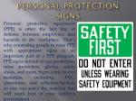 Personal Protection Signs | Safety Signs