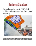 Bypoll results 2018: BJP's Lok Sabha tally down to 271 from 282 in 2014