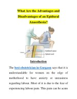 What Are the Advantages and Disadvantages of an Epidural Anaesthesia?