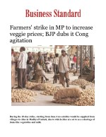 Farmers' strike in MP to increase veggie prices; BJP dubs it Cong agitation