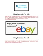 Ebay Accounts For Sale