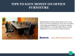 Tips To Save Money On Office Furnitures