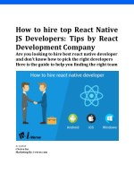 How to Hire Best React Native Developers
