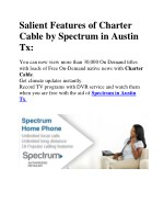 Salient Features of Charter Cable by Spectrum in Austin Tx