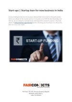Start-ups | Startup loan for new business in India