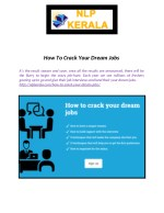 How To Crack Your Dream Jobs