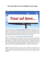 The Many Different Types of Mobile Billboard Advertising