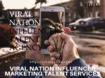 Influencer Marketing Talent Agency
