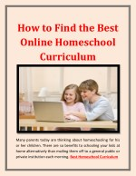 How to Find the Best Online Homeschool Curriculum