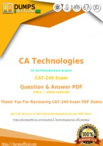 Actual CAT-240 Exam [PDF] Sample Questions Answers