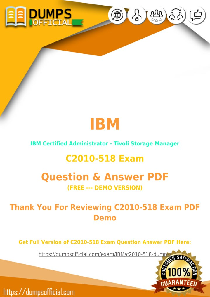PPT - C2010-518 PDF [Updated] IBM Certified Administrator