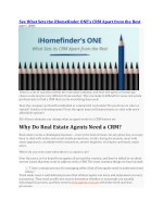 See What Sets iHomeFinders CRMs Apart From the Rest