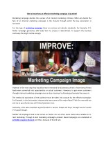 Get to know how an effective marketing campaign is launched