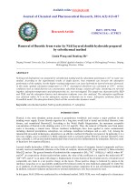 Removal of fluoride from water by NiAl layered double hydroxide prepared by solvothermal method