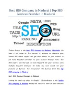 Best SEO Company in Madurai | Top SEO Services Provider in Madurai