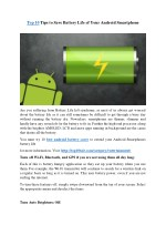 Top 10 Tips to Save Battery Life of Your Android Smartphone