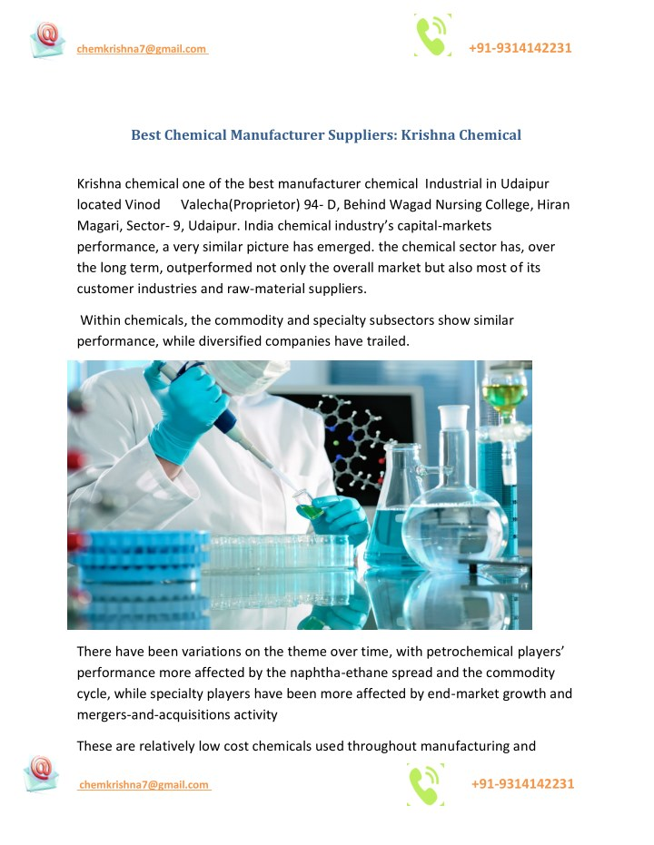 PPT - Best Chemical Manufacturer Suppliers: Krishna Chemical