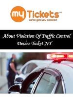About Violation Of Traffic Control Device Ticket NY