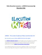 Kids Elocution Lessons – LAMDA Successes by Elocution Kids