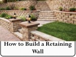 How to Build a Dry Stack Retaining Rock Wall