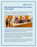 Why The Demand Of Urgent Care Centers Is Increasing? - Doctors On Call MAUI