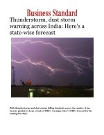 Thunderstorm, dust storm alert warning across India: Here's a state-wise forecast