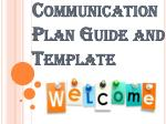 Communication Plan Guide and Template by Expert Toolkit