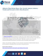 Adhesive Films Industry Research Report till 2024 - Hexa Research