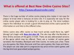 What is offered at Best New Online Casino Sites?