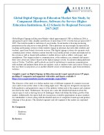 Digital Signage in Education Industry 2018 Market Size, Growth, Trends and 2025 Forecasts