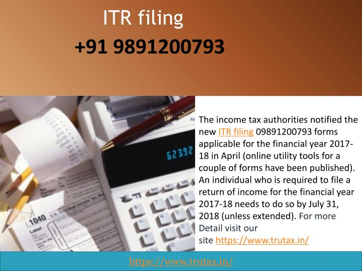 PPT - Which ITR filing 09891200793 forms applies to you for
