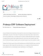 Erp Implementation Steps | Pridesys IT Ltd
