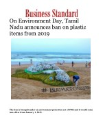 On Environment Day, Tamil Nadu announces ban on plastic items from 2019