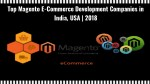 Top Magento E-Commerce Development Companies in India, USA | 2018