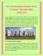 Buy Affordable Housing Units To Enjoy The Risk-Free Lifestyle