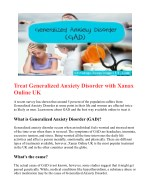 Treat Generalized Anxiety Disorder with Xanax Online UK