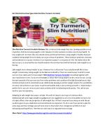Helps To Boost The Metabolism Slim Nutrition Turmeric Forskolin