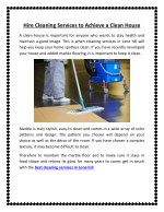 Hire Cleaning Services Lone Hill to Achieve a Clean House