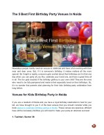 The 5 Best First Birthday Party Venues In Noida For Your Kid's Celebration!