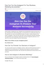 How Can You Use Instagram For Your Business Marketing Successfully?