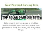 Solar Powered Dancing Toys
