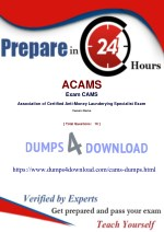ACAMS CAMS Exam Updated Questions - Now Available