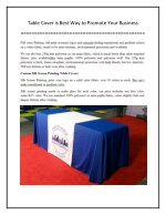 Table Cover is Best Way to Promote Your Business