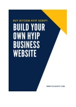 Buy Bitcoin HYIP Script - Build your Own HYIP Business Website