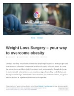 Weight Loss Surgery – your way to overcome obesity
