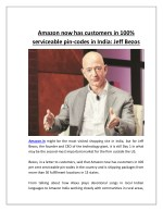 Amazon now has customers in 100% serviceable pin codes in india jeff bezos