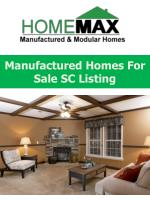 Manufactured Homes For Sale SC Listing