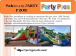 Welcome to PARTY PROS